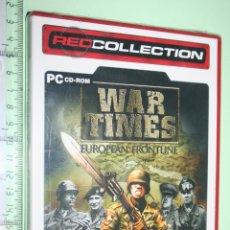 Videojuegos y Consolas: WAR TIMES *** EUROPEAN FRONTLINE *** JUEGO PC EN CASTELLANO *** (PRECINTADO). Lote 151876454