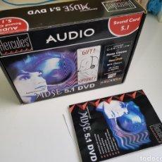 Videojuegos y Consolas: HERCULES AUDIO SOUND CARD GAMESURROUND MUSE 5.1 DVD GUILLEMOT (SOLO CAJA, MANUAL Y PANFLETOS). Lote 152256705