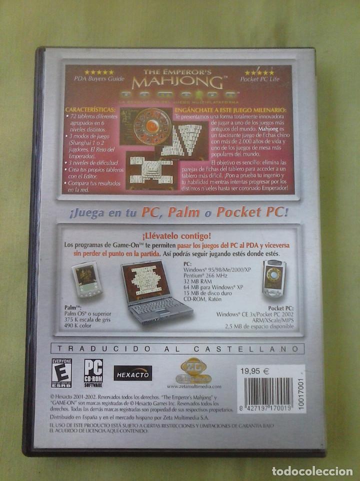 Videojuegos y Consolas: Juego PC The Emperor´s Mahjong. Año 2002 - Foto 2 - 253992155