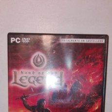 Videojuegos y Consolas: HAND OF GOD LEGEND JUEGO PC TOTALMENTE EN CASTELLANO PAL ESP 2008 ROL COMPLETO. Lote 154425670