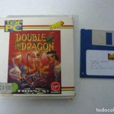 Videojuegos y Consolas: DOUBLE DRAGON DE ERBE / JUEGO IBM PC Y COMPATIBLES / RETRO VINTAGE / CLÁSICO / DISKETTE. Lote 154460390