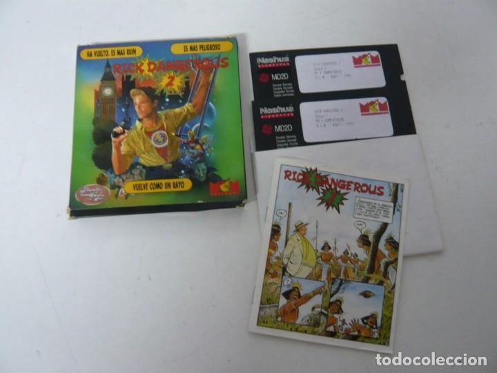 Videojuegos y Consolas: Rick Dangerous 2 / Juego IBM PC y Compatibles / Retro Vintage / Clásico / Diskette - Foto 3 - 154460530