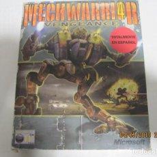 Videojuegos y Consolas: JUEGO PARA PC MECHWARRIOR 4 PC GAME TOTALMENTE EN CASTELLANO CAJA DE CARTON COMPLETO. Lote 155230698