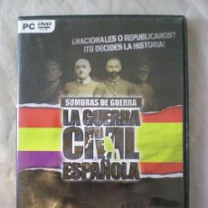 Videojuegos y Consolas: SOMBRAS DE GUERRA - GUERRA CIVIL ESPAÑOLA - PC DVD. Lote 155287986