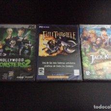 Videojuegos y Consolas: LOTE JUEGOS PARA PC JACK KEAKE EL IMPERIO DEL RESCATE+FULL THROTTLE+HOLLYWOOD MONSTERS 2. Lote 155899460