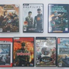 Videojuegos y Consolas: LOTE VIDEOJUEGOS PC FINAL CONQUEST, HALF LIFE 2, STAR WARS REPUBLIC COMMANDO, CAL. Lote 156000596