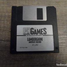 Videojuegos y Consolas: PC DISKETTE LAMBORGHINI AMERICAN CHALLENGE PAL ESP. Lote 156034286