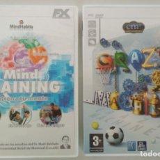 Videojuegos y Consolas: LOTE DE 2 JUEGOS, MIND TRAINING ENTRENA TU MENTE, CRAZY MACHINES 2, VIDEOJUEGO PC. Lote 156390382