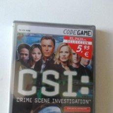 Videojuegos y Consolas: CSI C.S.I JUEGO CODEGAME PARA PC ORDENADOR EN CASTELLANO NUEVO Y PRECINTADO, MIRAR FOTOS. Lote 157228306