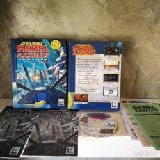 Videojuegos y Consolas: STAR WARS REBEL ASSAULT PC EN CAJA GRANDE COMPLETO. Lote 158911530