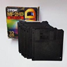 Videojuegos y Consolas: CAJA CON 9 DISKETTES 3.5. Lote 159960442
