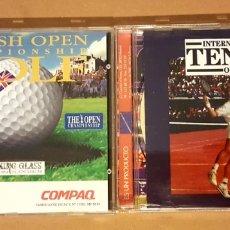 Videojuegos y Consolas: BRITISH OPEN GOLF Y INTERNATIONAL TENNIS OPEN. 2 JUEGOS PC 1998. Lote 160815372