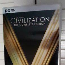 Videojuegos y Consolas: JUEGO PC: SID MIER'S CIVILIZATION THE COMPLETE EDITION. Lote 160819093