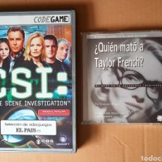 Videojuegos y Consolas: CSI CRIME SCENE INVESTIGATION Y ¿QUIEN MATÓ A TAYLOR FRENCH? 2 JUEGOS PC. Lote 160842461