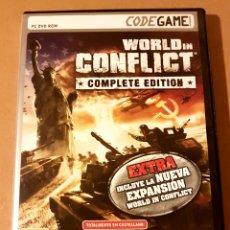 Videojuegos y Consolas: WORLD IN CONFLICT - COMPLETE EDITION. JUEGO PC. Lote 160892926