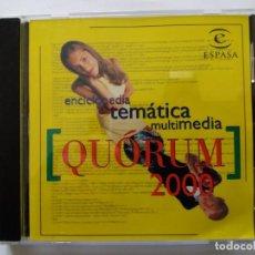 Videojuegos y Consolas: ENCICLOPEDIA TEMÁTICA MULTIMEDIA QUÓRUM 2000. ESPASA.1999.. Lote 161238322