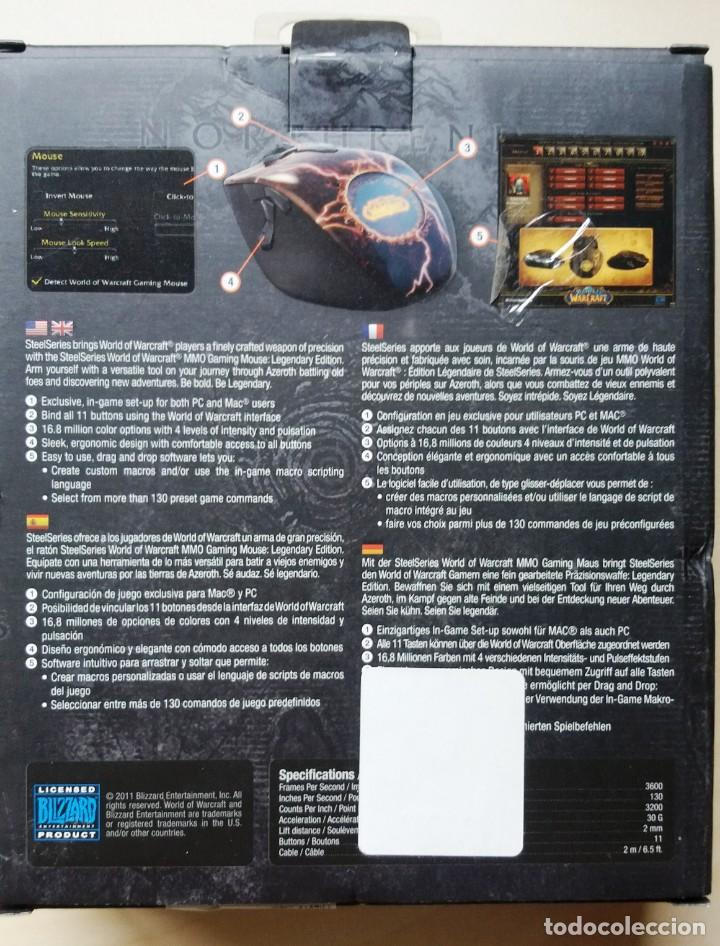 Videojuegos y Consolas: SteelSeries World of Warcraft Legendary MMO Gaming Mouse - Foto 2 - 161430806