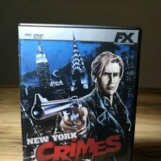 Videojuegos y Consolas: NEW YORK CRIMES PC VIDEOJUEGO FX. Lote 105084187