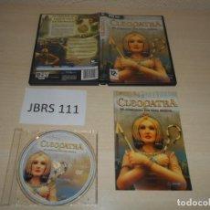 Videojuegos y Consolas: PC - CLEOPATRA , PAL ESPAÑOL , COMPLETO. Lote 163120886