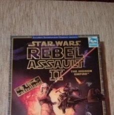 Videojuegos y Consolas: JUEGO PC CD-ROM STAR WARS REBEL ASSAULT 2 CAJA CARTON DURO NUEVO SIN PRECINTO. Lote 163345162