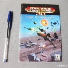 Videojuegos y Consolas: MAUAL DE INSTRUCCIONES DEL JUEGO DE STAR WARS ROGUE SQUADRON 3D -. LUCASARTS. Lote 163397578