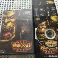 Videojuegos y Consolas - WARCRAFT III REIGN OF CHAOS portada completa 3 pc cd rom kreaten - 164163450