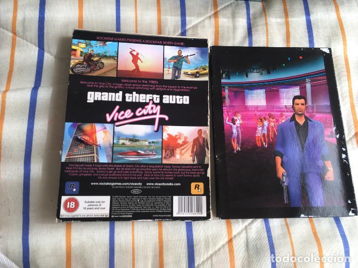 Videojuegos y Consolas: GRAND THEFT AUTO VICE CITY ROCKSTAR PC CD ROM KREATEN gta - Foto 2 - 164619086