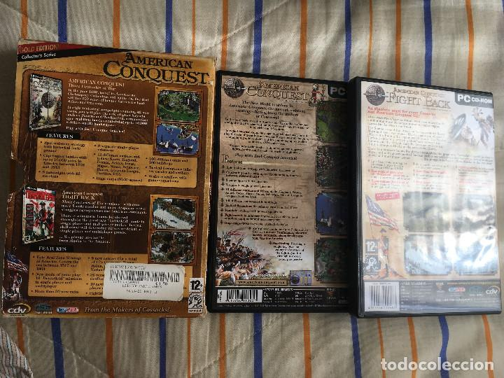 Videojuegos y Consolas: AMERICAN CONQUEST GOLD EDITION COLLECTOR'S SERIES 2 GAMES PC KREATEN - Foto 2 - 164619546