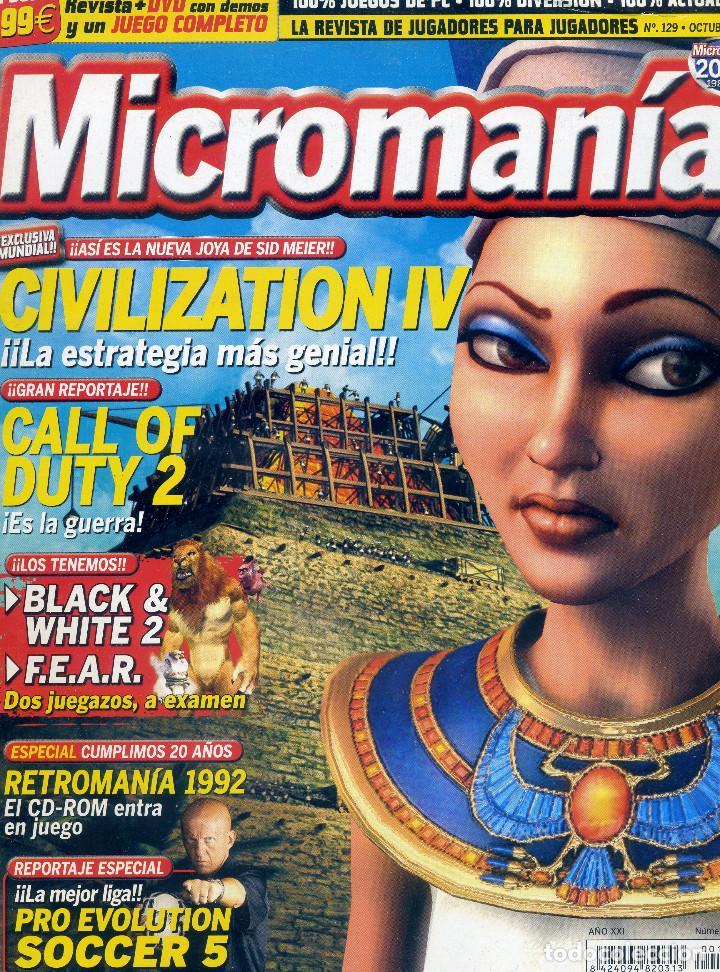 REVISTA MICROMANIA Nº129 OCTUBRE 2005 (Juguetes - Videojuegos y Consolas - PC)