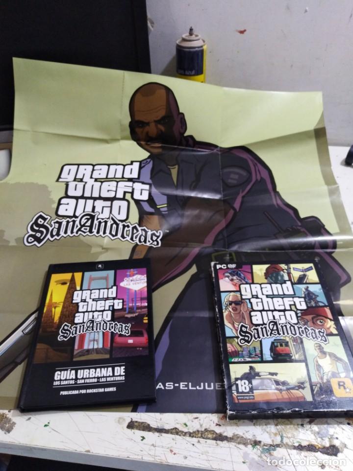 JUEGO PC GTA SAN ANDREAS EDICIÓN ESPAÑOLA COMPLETO CON GUÍA CD Y PÓSTER (Juguetes - Videojuegos y Consolas - PC)