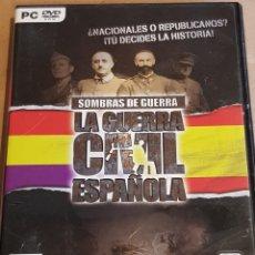Videojuegos y Consolas: PC DVD-ROM / SOMBRAS DE GUERRA / LA GUERRA CIVIL ESPAÑOLA / JUEGO COMPLETO DE BUENA CALIDAD.. Lote 165448570