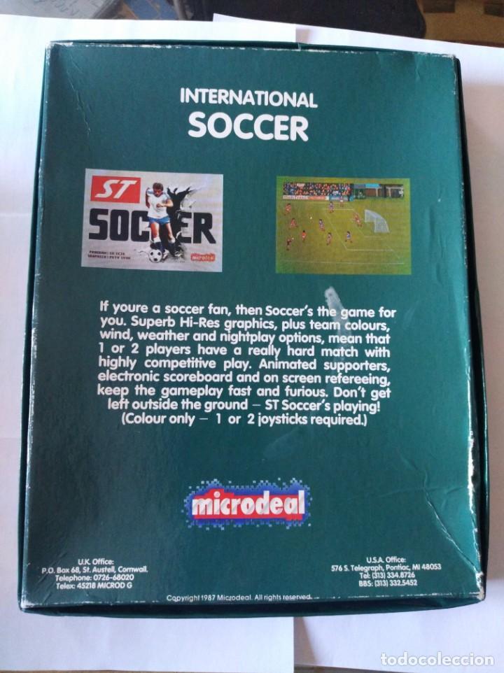 Videojuegos y Consolas: Juego pc disquete soccer Atari st 1987 - Foto 2 - 166137170
