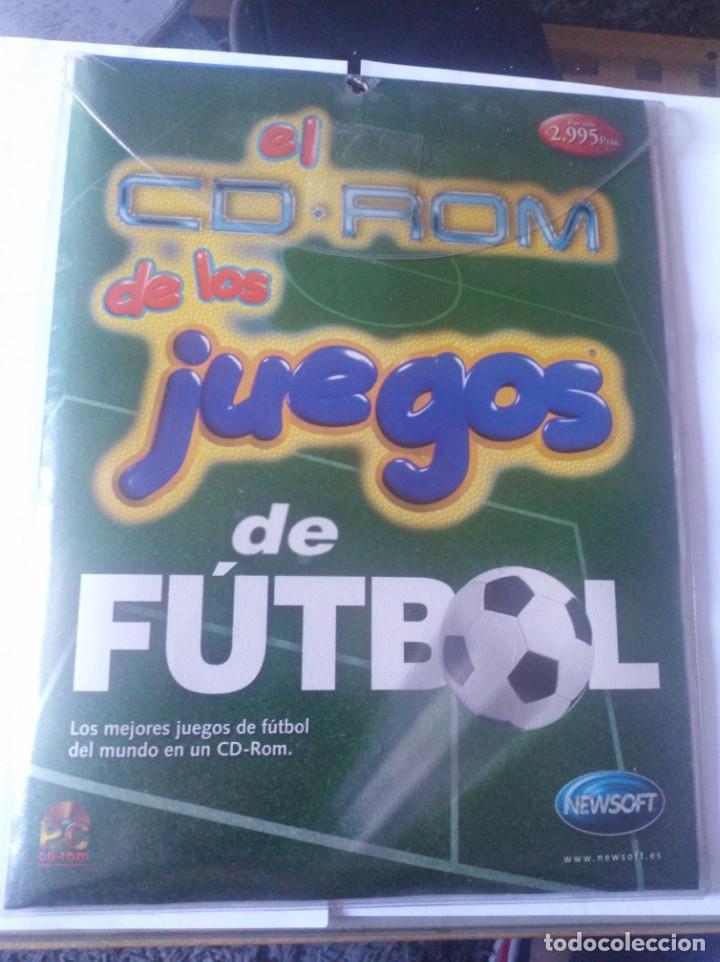 JUEGO PC DISQUETE Y CD ROM JUEGOS DE FUTBOL (Juguetes - Videojuegos y Consolas - PC)
