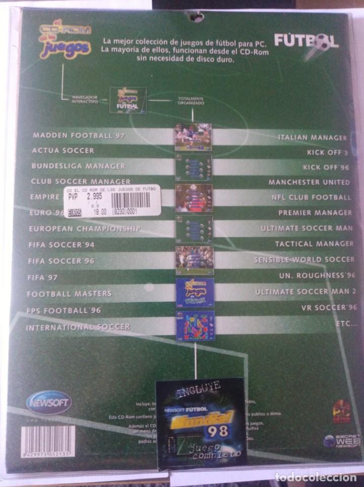 Videojuegos y Consolas: Juego pc disquete y CD rom juegos de futbol - Foto 2 - 166139086