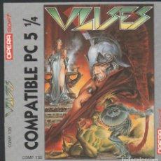 Videojuegos y Consolas: ULISES DE ALFONSO AZPIRI CARÁTULA DE VÍDEO-JUEGO PC 5 1/4 DE OPERA SOFT SIN USAR. Lote 166719098