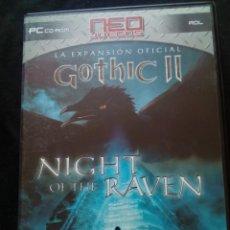 Videojuegos y Consolas: JUEGO PC GOTHIC II EXPANSIÓN NIGHT OF THE RAVEN. Lote 167258452