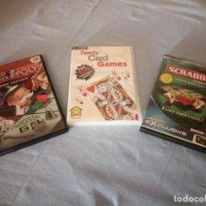 Videojuegos y Consolas: LOTE DE 3 JUEGOS PC CD ROM. SCRABBLE,MONOPOLY NEW EDITION,FAMILY CARD GAMES.. Lote 167550144