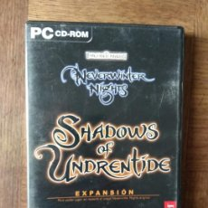 Videojuegos y Consolas: FORGOTTEN REALMS, NEVERWINTER NIGHTS. EXPANSION: SHADOWS OF UNDRENTIDE - CD ROM - PAL ESPAÑA -. Lote 168147080