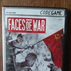 Videojuegos y Consolas: FACES OF WAR - DVD ROM - PAL ESPAÑA -. Lote 168148640