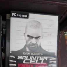 Videojuegos y Consolas: SPLINTER CELL -TOM CLANCY'S- JUEGO PARA PC, DVD ROM. Lote 168289624
