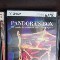 Videojuegos y Consolas: PANDORA'S BOX PC LA CAJA DE PANDORA 350 PUZZLES DEL CREADOR DE TETRIS. Lote 168290020
