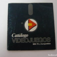 Videojuegos y Consolas: CATÁLOGO DE VIDEOJUEGOS ERBE - IBM PC Y COMPATIBLES - VIDEOJUEGO RETRO VINTAGE - DISCO. Lote 168758008