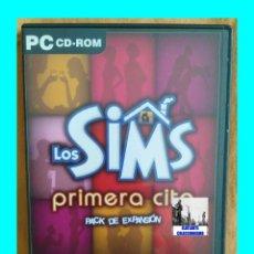 Videojuegos y Consolas: LOS SIMS 2 - PRIMERA CITA - PACK DE EXPANSIÓN - 2001 - EA GAMES - EXCELENTE. Lote 168760740