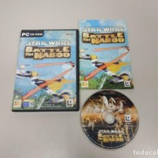 Videojuegos y Consolas: 619- STAR WARS BATTLE FOR NABOO EN CASTELLANO 2001 PC CD ROM RARO !!!!!!!. Lote 169309284