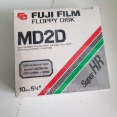 Videojuegos y Consolas: 10 DISCOS 5.1/4 FUJIFILM FLOPPY DISK MD2D PRECINTADO. Lote 169639518