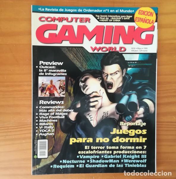 COMPUTER GAMING WORLD 42, MAYO 1999. VAMPIRE, GABRIEL KNIGHT III, SHADOWMAN, NOCTURNE, WEREWOLF... (Juguetes - Videojuegos y Consolas - PC)