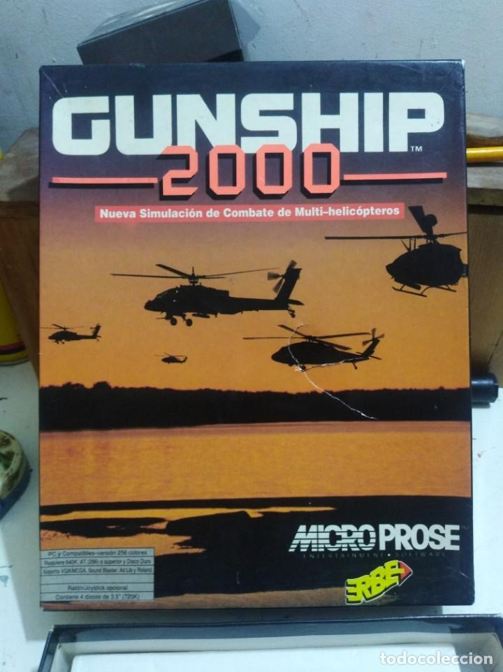 Videojuegos y Consolas: Juego pc disquete gunship 2000 erbe caja grande r - Foto 3 - 172140333