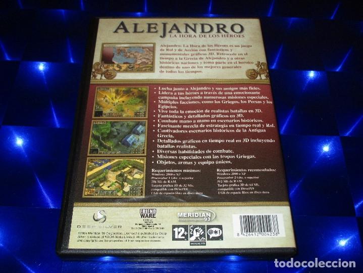 Videojuegos y Consolas: ALEJANDRO LA HORA DE LOS HEROES - PC CD-ROM - MERIDIAN 93 - FRIENDWARE - Foto 3 - 173154717