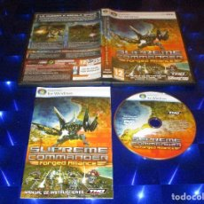 Videojuegos y Consolas: SUPREME COMMANDER ( FORGED ALLIANCE ) - PC DVD - THQ - LA GUERRA A ESCALA EPICA. Lote 173169049