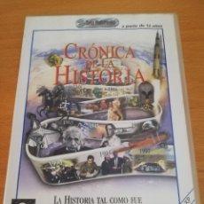 Videojuegos y Consolas: CRÓNICA DE LA HISTORIA. CUATRO MILLONES DE AÑOS DE HISTORIA DEL MUNDO (CD-ROM). Lote 173915904